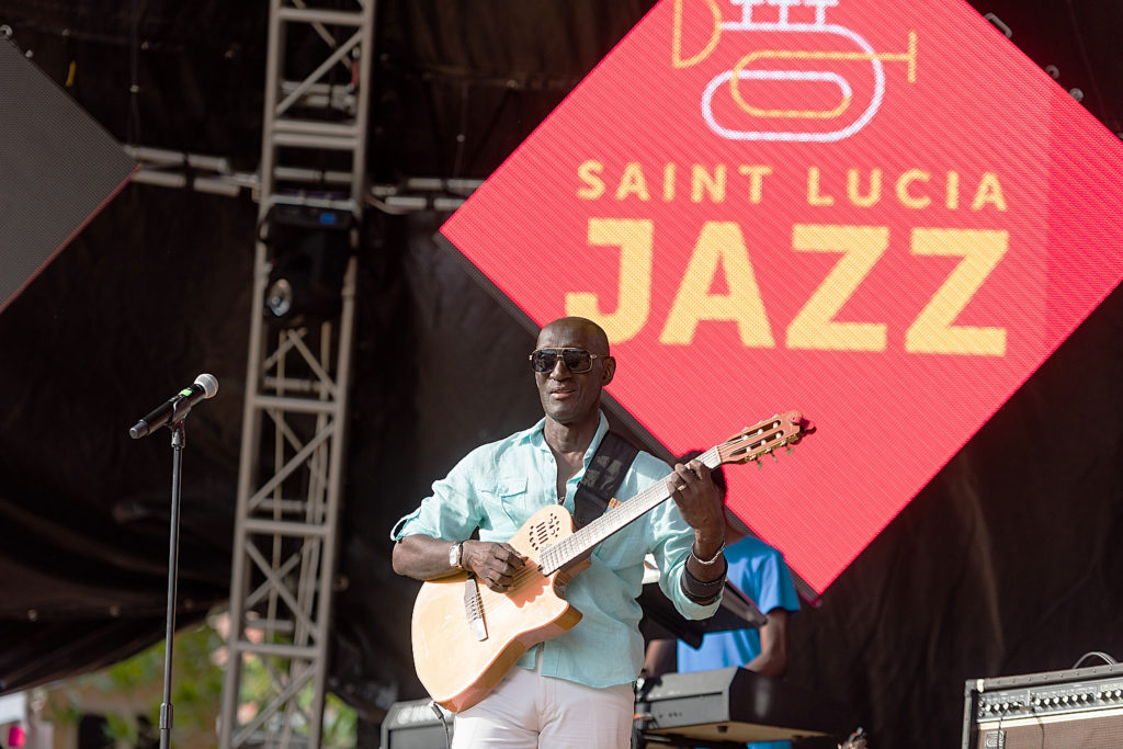 aint Lucia's renowned guitarist and musician Ronald 'Boo' Hinkson appearing at Saint Lucia Jazz Festival photo courtesy of the Saint Lucia Tourism Authority This collaboration between Saint Lucia and renowned Jazz at Lincoln Center reflects Saint Lucia's exceptional reputation for consistently producing a world-class festival