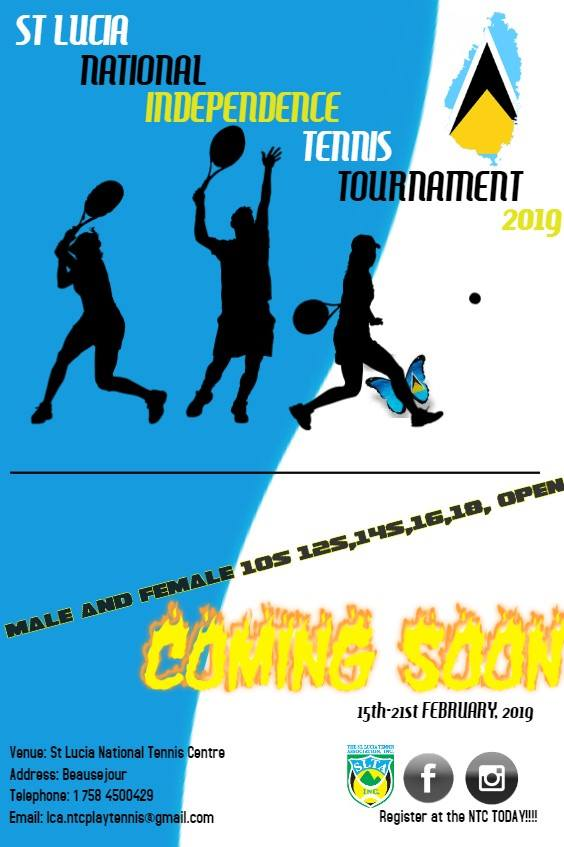 Saint Lucia National Independence Tennis Tournament what to do in st lucia sports matches daily 15th - 22nd February from 9am