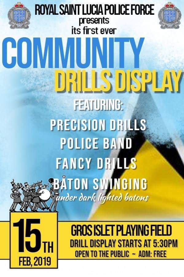 community drills display st lucia police force - come see the RSLPF display their skills in Gros Islet