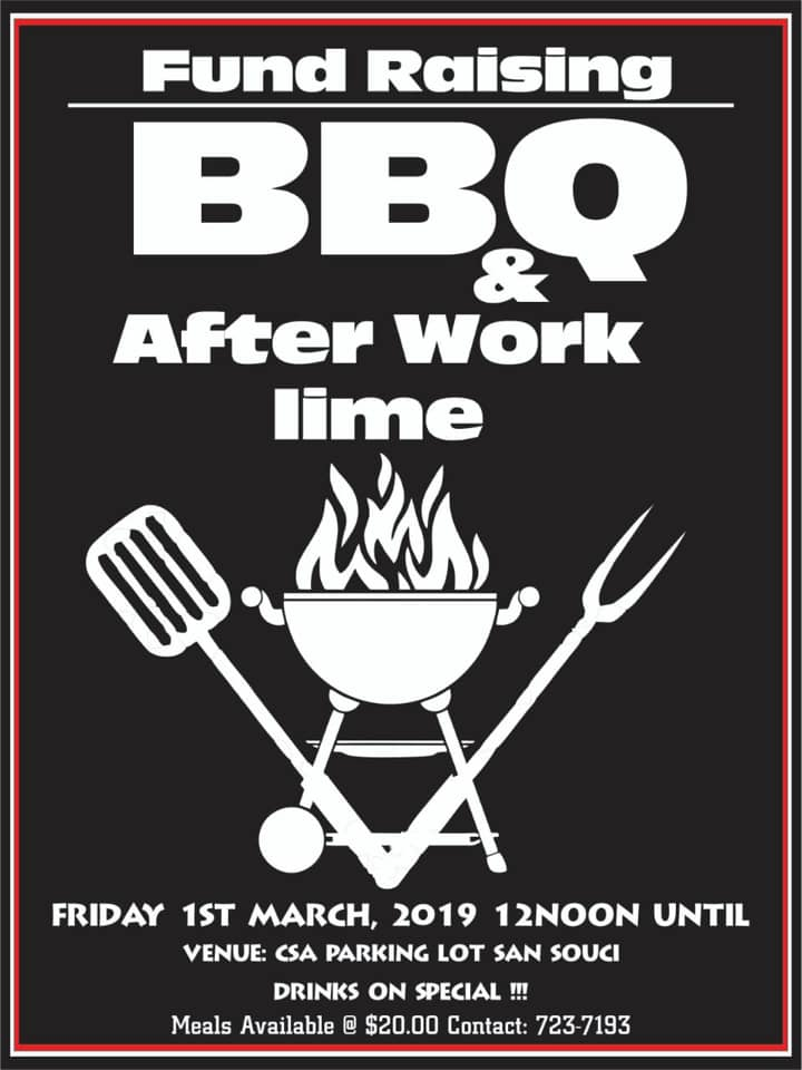 Give back to saint lucia and eat local food fundraising bbq at csa centre
