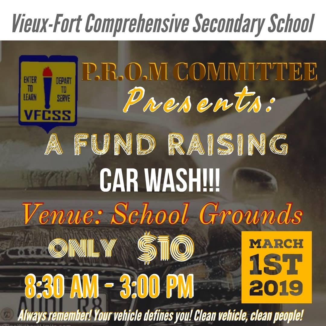 support a worthy cause vieux fort school fundraising car wash give back st lucia