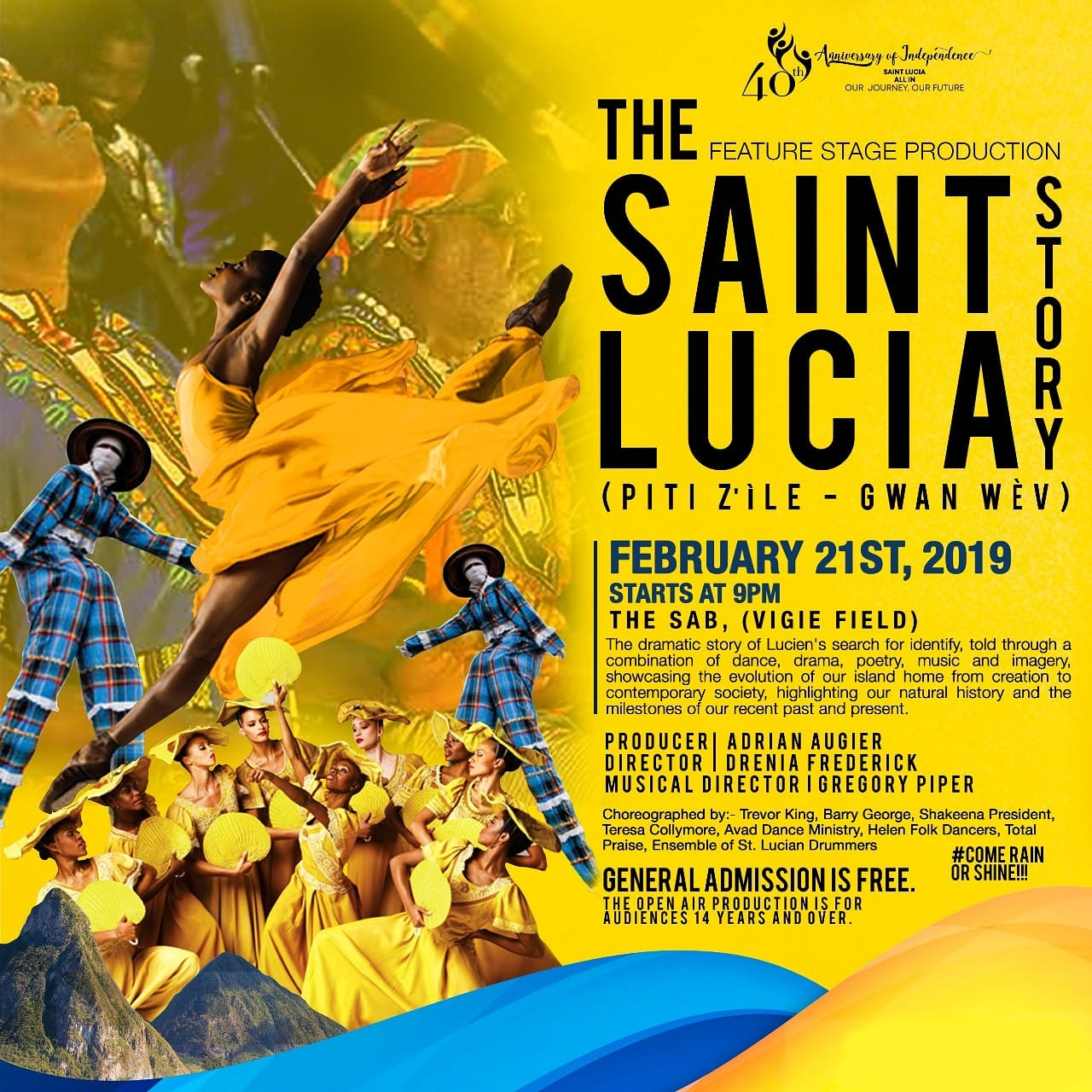 what to do in st lucia 40th anniversary of independence the st lucia story produced by adrian augier, directed by drenia frederick musical director gregory piper