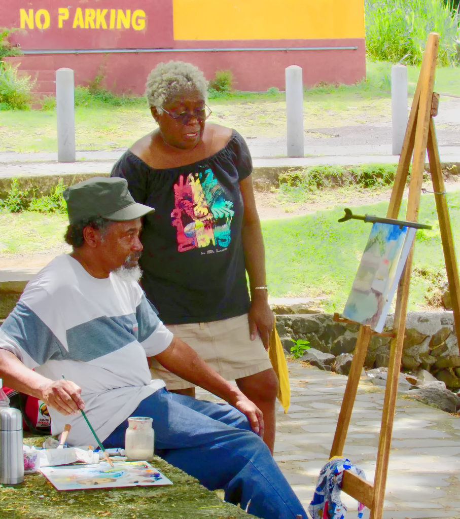 St Lucia artist Alcina nolley gives personalised classes in painting with oils, digital painting, drawing, jewelry making