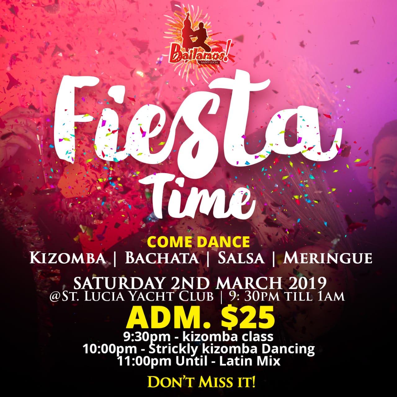 Fiesta Time dance latin kizomba meringue bachata salsa at the yacht club