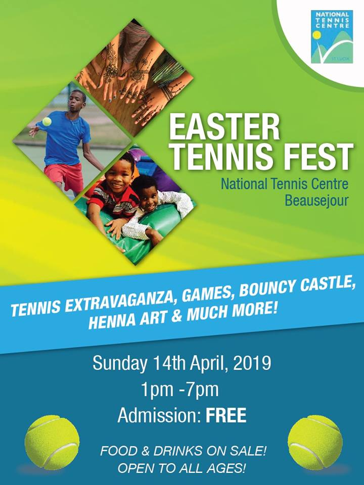 Easter Tennis Fest sporting events st lucia what to do