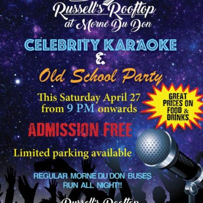 Russell's Rooftop Presents Celebrity Karaoke & Old School Party