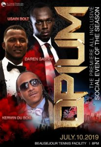what to do in saint lucia st lucia distillers presents OPIUM with Usain Bolt Daren Sammy and Kerwin Dubois carnival party