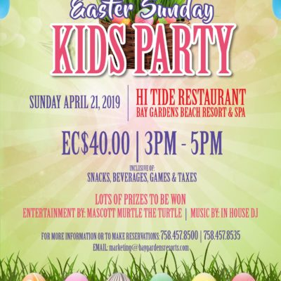 Kids Easter Party at Bay Gardens Resort