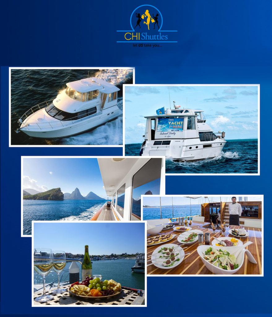 CHI Shuttles will take you on the sea in comfort and style with the Laze n Sail tour