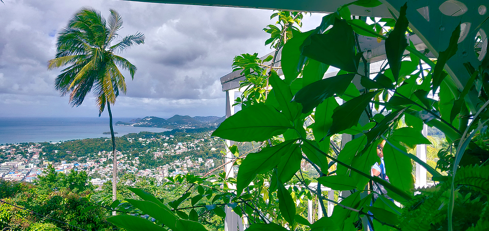 Fabulous view over Castries, Saint Lucia from Howelton Estate, historical Morne Fortune, with CHI Tours