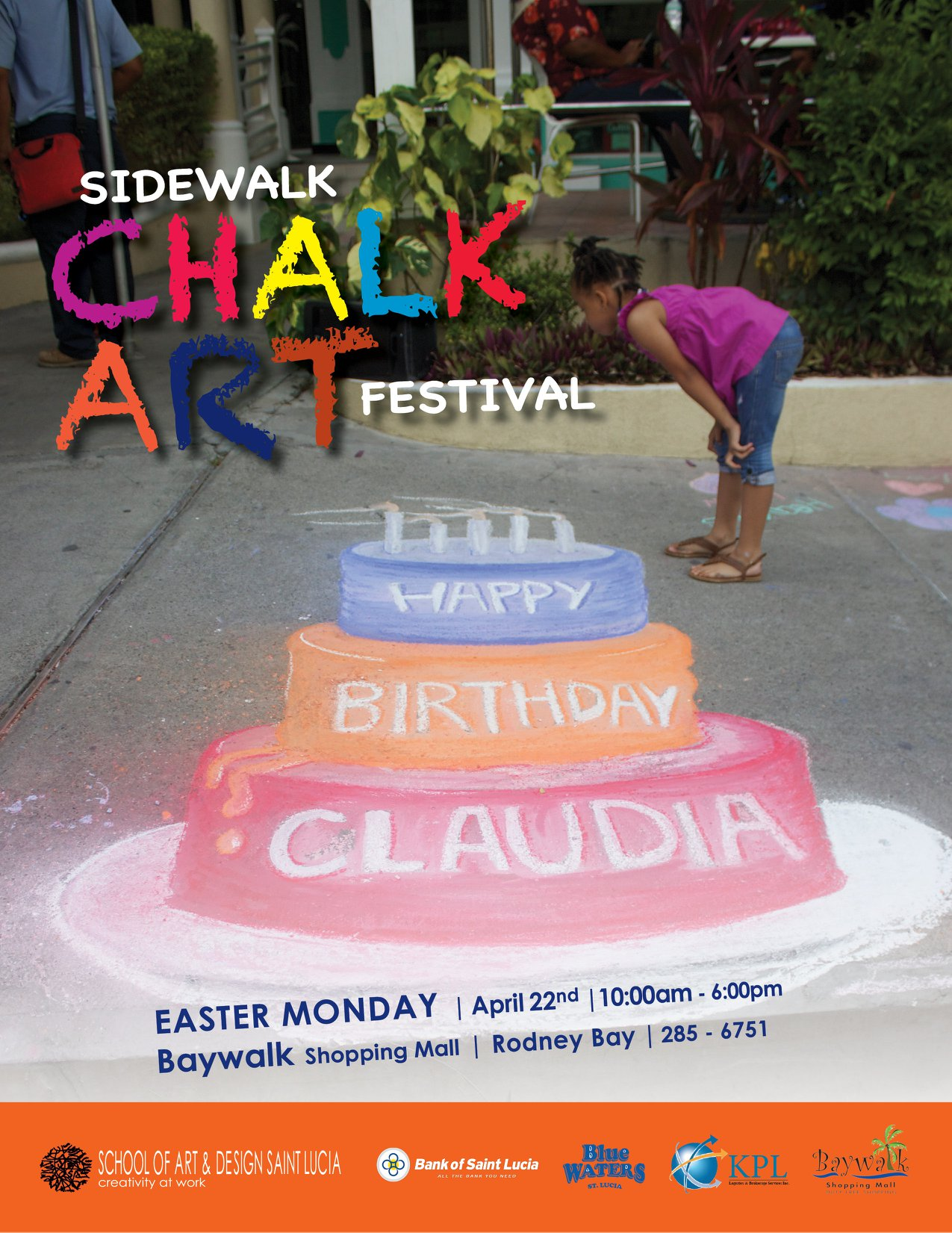 chalk art festival rodney bay st lucia school of art & design st lucia free event suitable for kids and adults