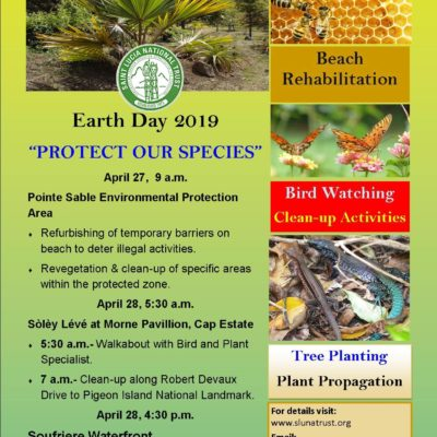 Saint Lucia National Trust Earth Day activities – Soleil Kouche, Soufriere