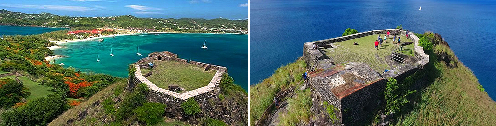 Fort Rodney Pigeon Island National Landmark Saint Lucia National Trust
