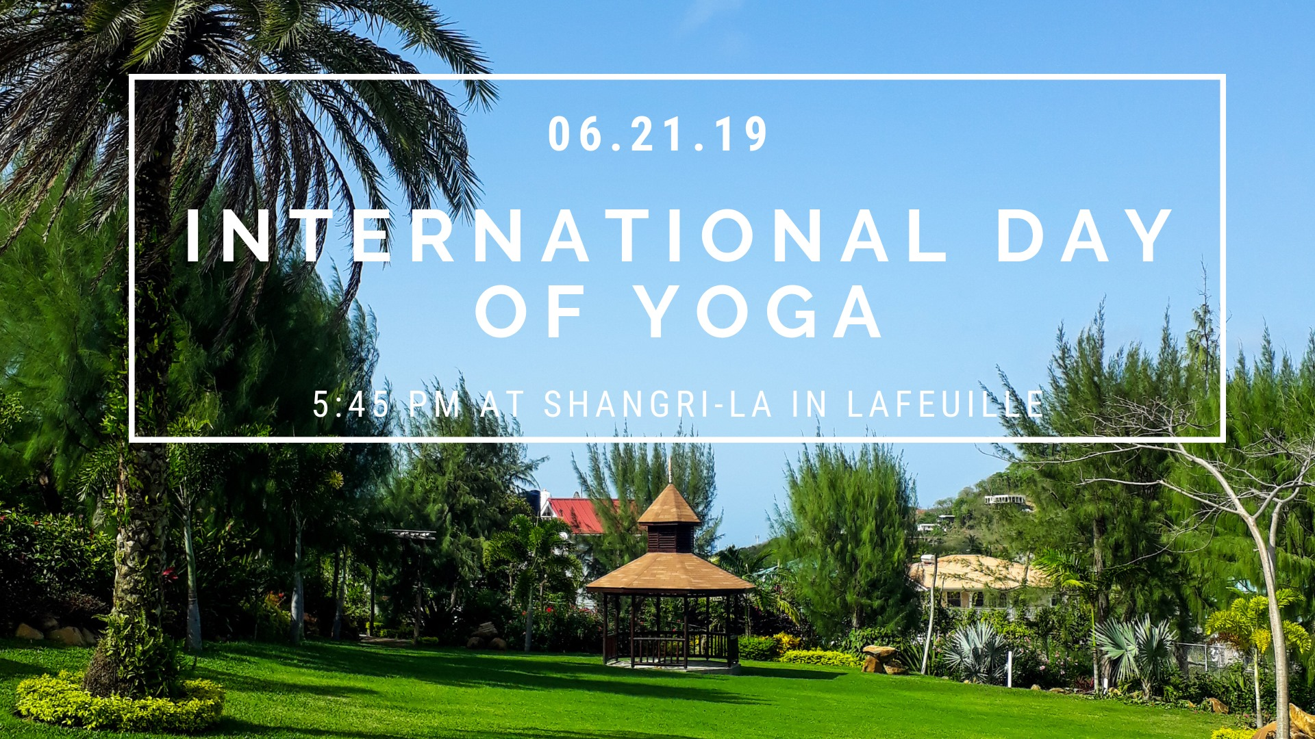 At the beautiful Shangri-La, the Art of Living Foundation together with Yoga with Ja are hosting this free International Yoga day event