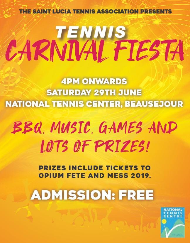 Saint Lucia Tennis Association Tennis Carnival Fiesta at the Beausejour National Tennis Centre