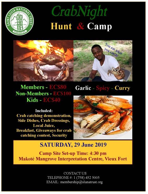 Saint Lucia National Trust Crab Night anc Camp