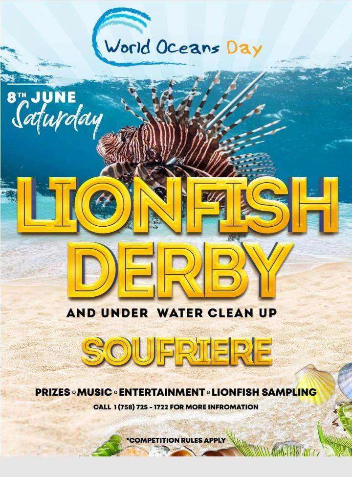 World Oceans Day Saint Lucia Lionfish Derby and underwater cleanup - form a team, win prizes, help keep our oceans healthy!
