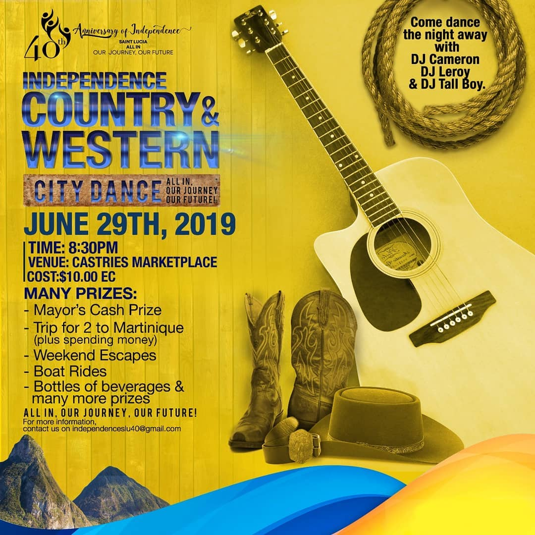 country and western city dance independence 40th anniversary lots of prizes to be won, just 10 dollars entrance