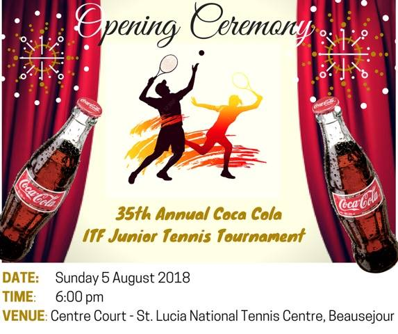Opening Ceremony 35th Annual Coca Cola ITF Junior Tennis Tournament st lucia