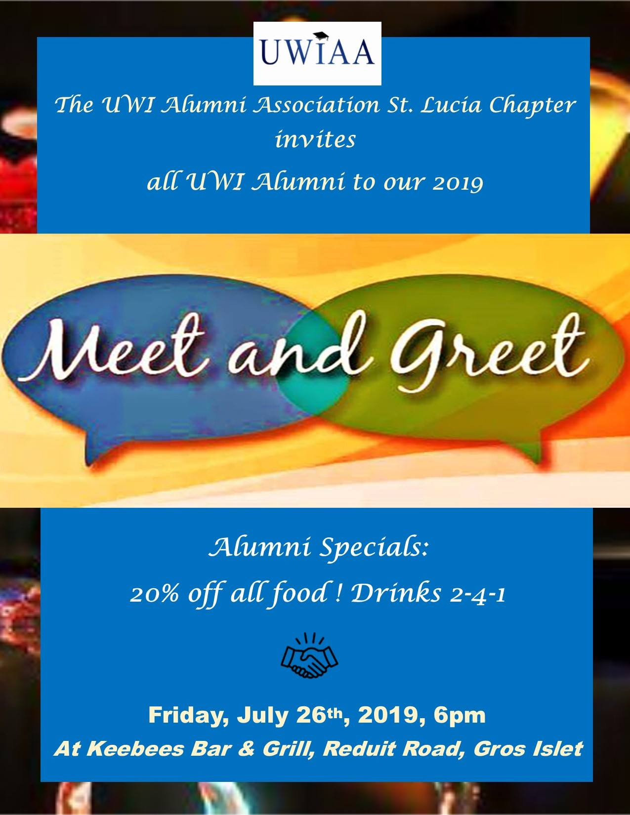 The-UWI-Alumni-Association-Saint-Lucia-Chapters-Annual-Meet-and-Greet at Keebee's Sports Bar & Grill