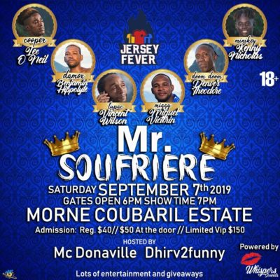 Mr Soufriere – See Soufriere's funniest young men compete for the title