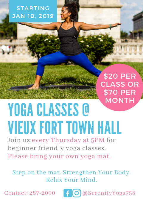 keep fit in saint lucia beginner yoga classes with Serenity Yoga in Vieux Fort