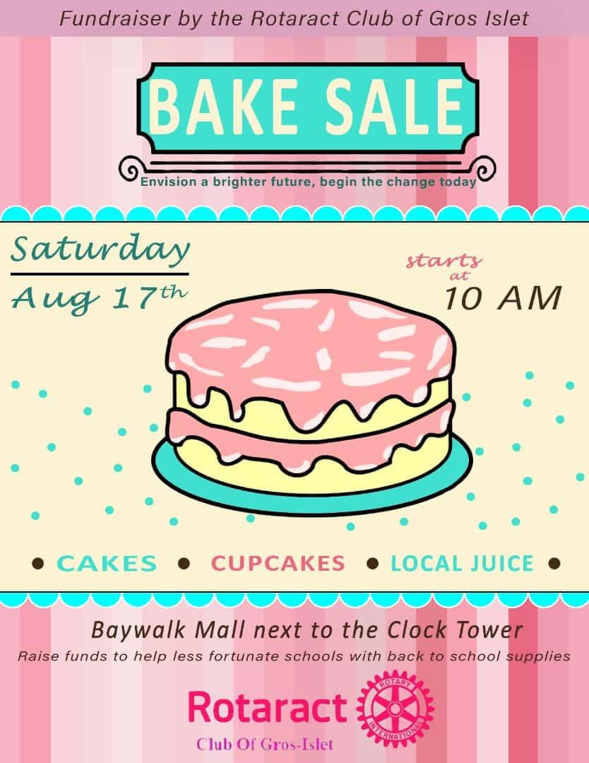 give back to saint lucia rotaract club of gros islet saint lucia fundraising cake sale