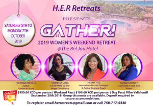 Get out of your comfort zone with the H.E.R. Gather, women's retreat st lucia october 5-7