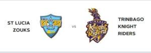 cpl t20 cricket on Saturday 21st st lucia zouks vs trinbago knight riders daren sammy national cricket ground st lucia