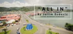 Unveiling of All In Sculpture by Jallim Eudovic at castries waterfront October 3rd, 3:30pm