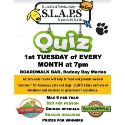 Fundraising Quiz Night for St Lucia Animal Protection Society