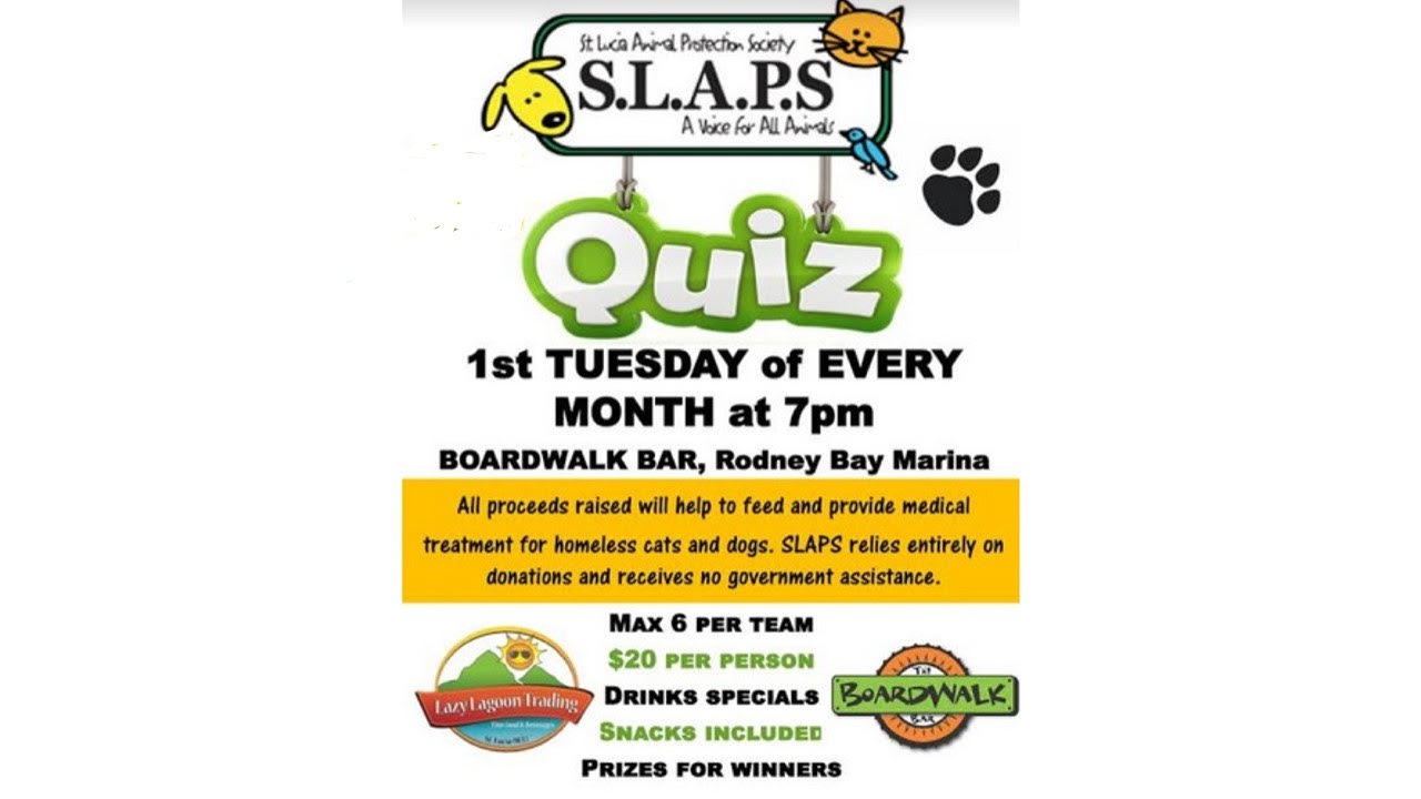 fundraising quiz night for SLAPS first Tuesday of the month, boardwalk bar