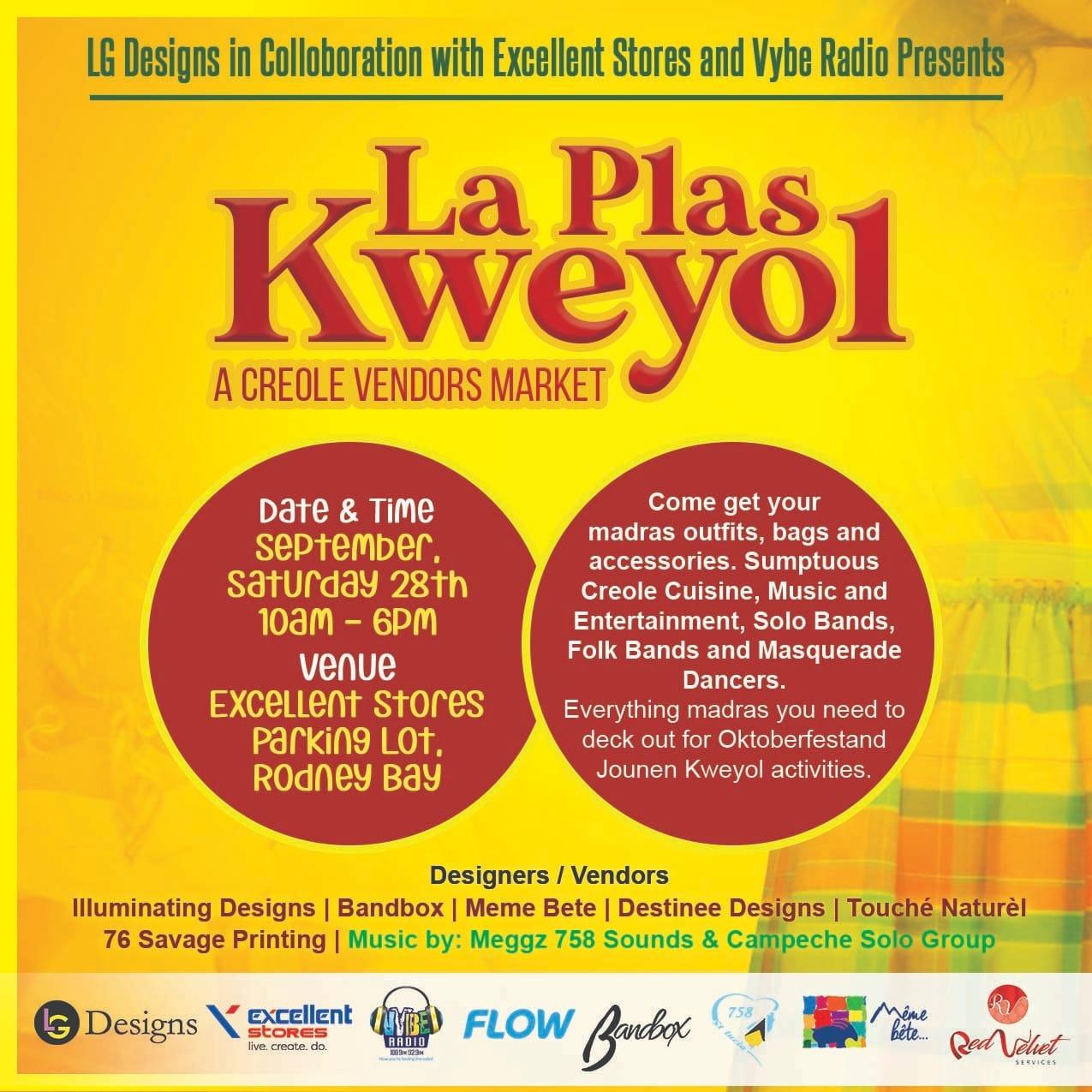 la plas kweyol creole market
