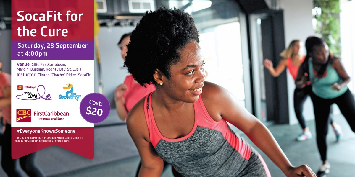 get fit while fundraising for a good cause with St Lucia soca fit for the cure Sunday 6th october