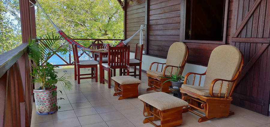 best rustic accommodation in saint lucia family nature instagram views anne's retreat anse la raye cool balcony instagram views