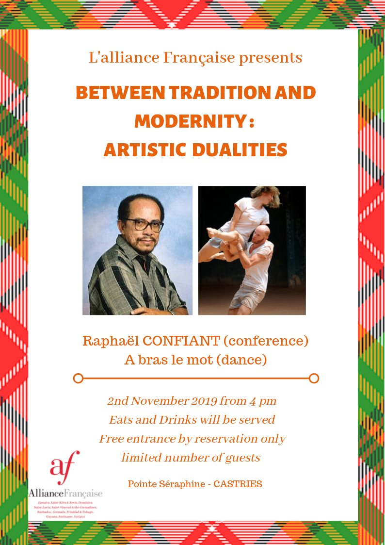 M. Raphael Confiant, the Martinican writer known for his literary commitment towards Creole literature. The conference will be followed, once again, by another huge performance from the dancers of the Compagnie EN LACETS