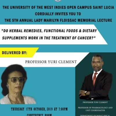 UWI 5th Annual Lady Marilyn Floissac Memorial Lecture