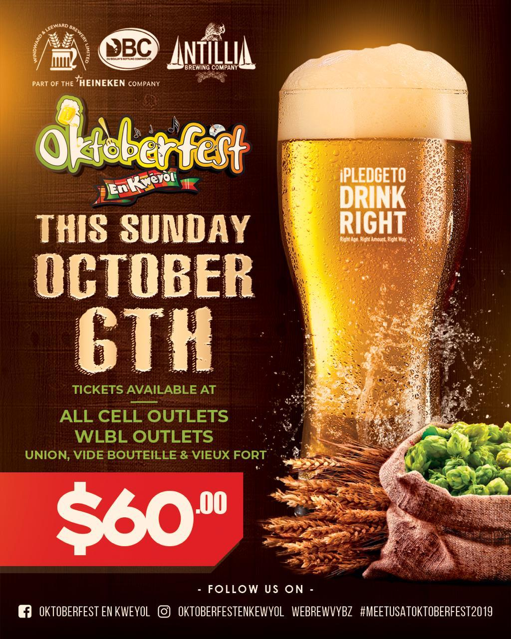 Oktoberfest en kweyol 2019 at Pigeon Island National Landmark featuring Krosfyah and Edwin Yearwood and DYP