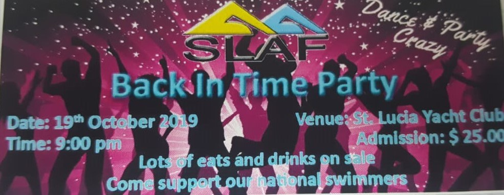 back in time fundraising party for young swimmers