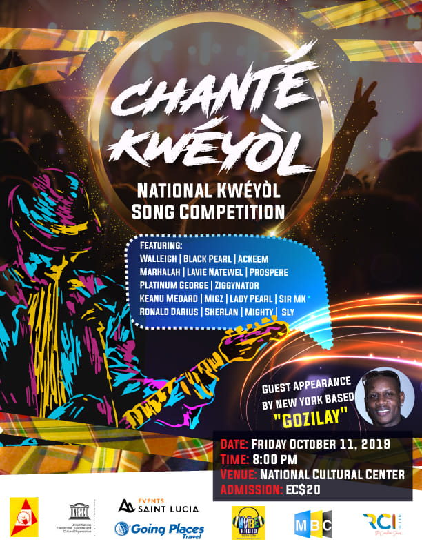 chante kweyol creole song competition for jounen kweyol st lucia. At the National Cultural Centre, Castries. Local culture