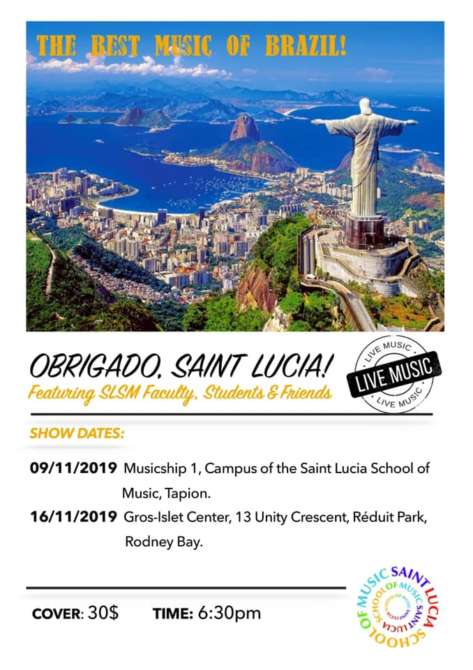 obrigado saint lucia featuring slsm faculty students and friends concert at Reduit Park