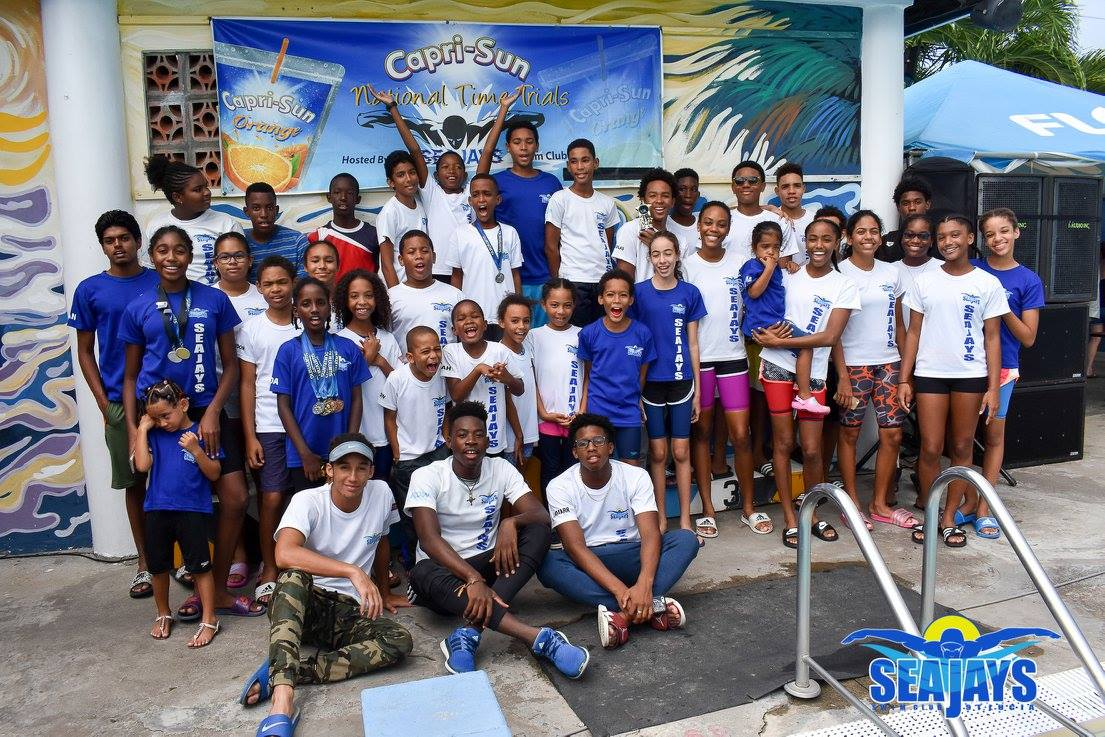 cheer on the swimmers at The top performing swimmers compete for National Title and a place on the OECS National Team