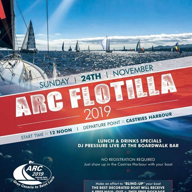 2019 ARC Flotilla from Castries Harbour