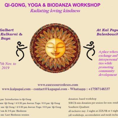 Yoga and Qi Gong and Biodanza workshop at Kaï Papaï