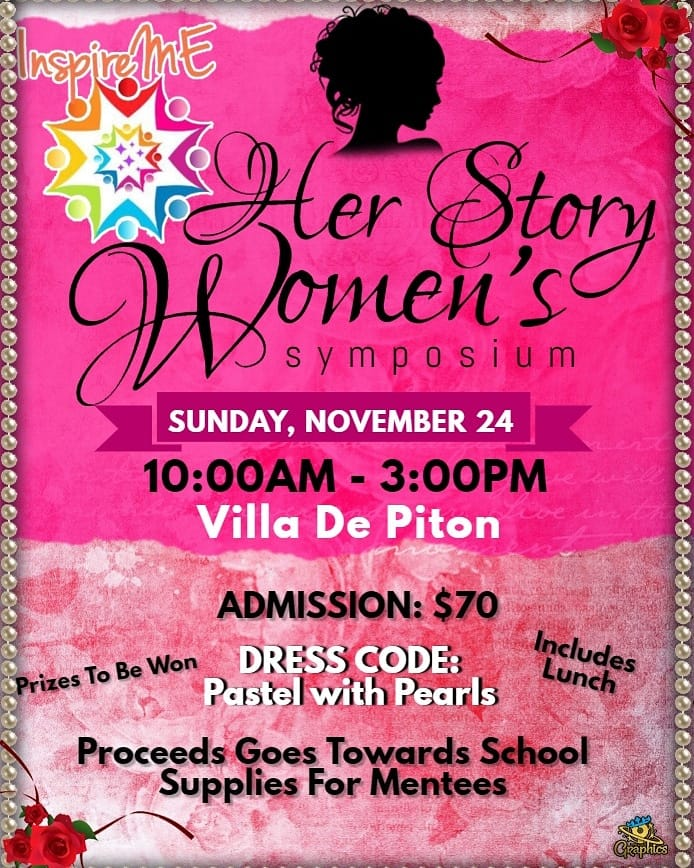 her story women's symposium and fundraising at Villa de Pitons