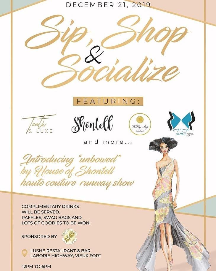 sip shop and socialise at Lushe Restaurant and bar laborie vieux fort highway - fashion show debuting Shontell's 'unbound' line