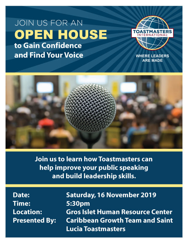 toastmasters open house in Gros Islet saint lucia