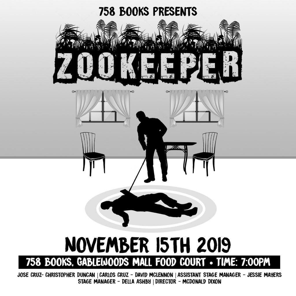 zookeeper - a one-act play by Mcdonald Dixon at 758 Books