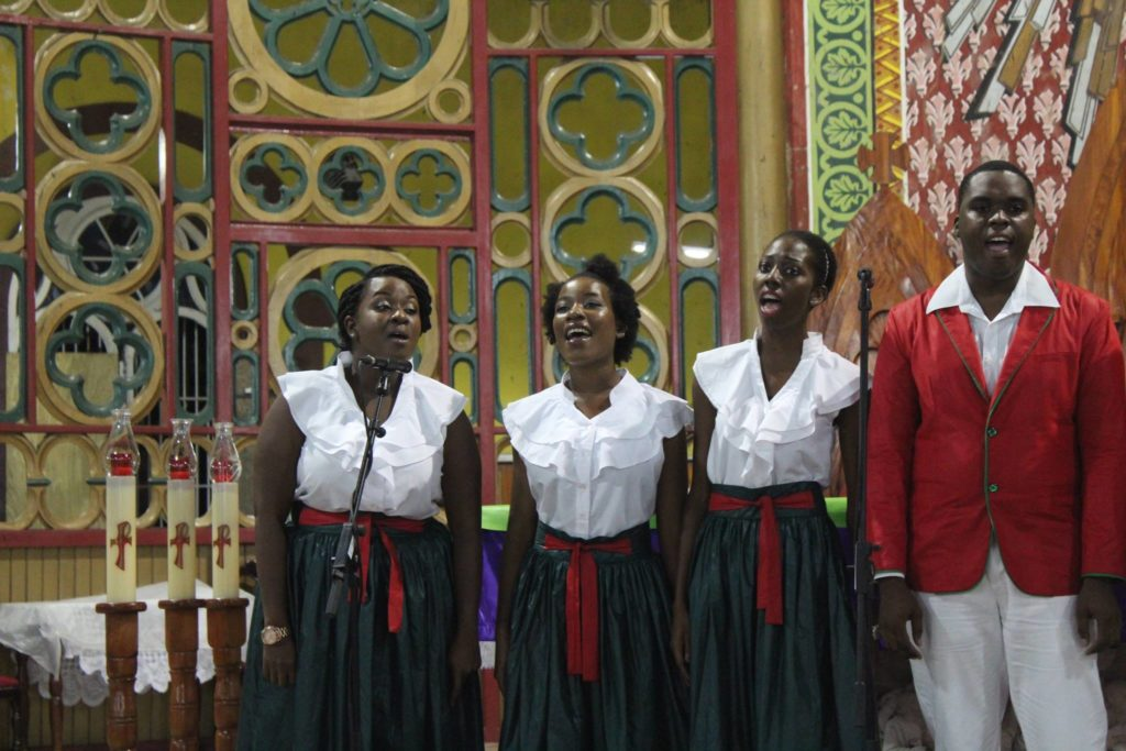 festival of carols in an annual event, part of the December Festivals - a traditional christmas festival in Saint Lucia