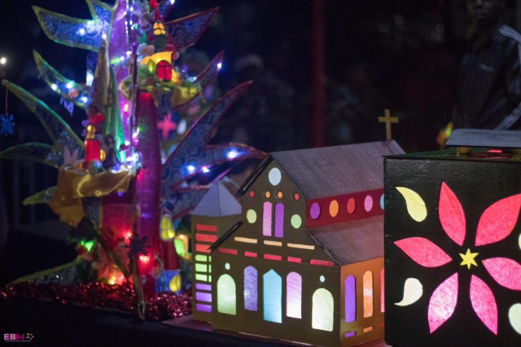Handmade lanterns are created by schoolkids and artists who vie for prizes in Saint Lucia's annual Lantern Festival Competition, a traditional festival.